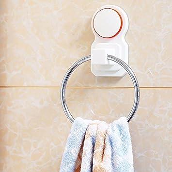 SUHANG Anillo de toalla Ventosa Toalla Libre De Anillo Perforado para Colgar En Pared Tipo Baño