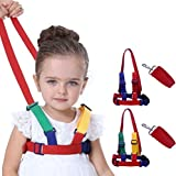 Baby Child Safety Walking Harness Strap Rope, Tether Child Toddler for Walking Strap Rope, Toddler Walking Rope, Safety Walking Cord, Chest Sizes Adjustable Used for 1-7 olds Toddler(Green - Yellow)