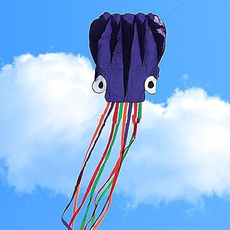 Bluelover 5.5 M Soft 3D Octopus Kite Pieghevole Portatile Giocattolo Aquilone Per Bambini Gioco All'Aperto - Verde