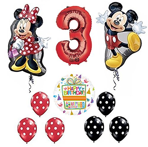 Mickey and Minnie Mouse Full Body 3rd Birthday