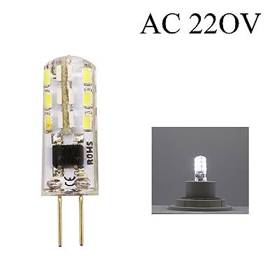1PC G41.5W 220V AC 120Lumen LED Lampe équivalent à 15W Lampe halogène angle du faisceau de 360degrés (Blanc feddo)