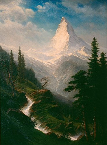 Albert Bierstadt Giclee Canvas Print Paintings Poster Reproduction LARGE SIZE(The - Birmingham Summit In