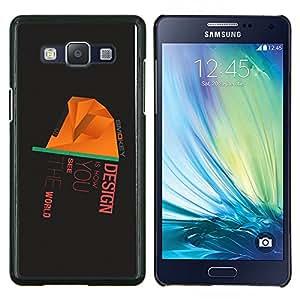 LECELL--Funda protectora / Cubierta / Piel For Samsung Galaxy A5 A5000 -- Diseño es cómo ves el mundo --