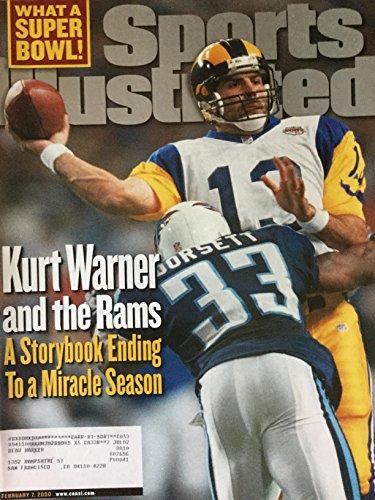 2000 Sports Illustrated Magazine - Sports Illustrated February 7 2000 Kurt Warner Rams