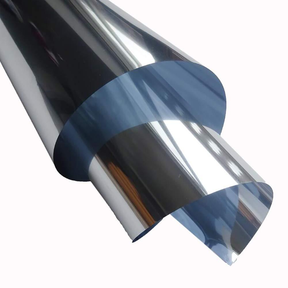 Xrrxy Pel/ícula de Ventana Adhesiva para Ventanas Cristal Unidireccional Protector de Privacidad Unidireccional Plata Reflectante para Ventana 20x39inch Anti UV,50x100cm