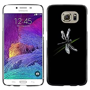 - BLACK SIMPLE DRAGONFLY FLYING GRASS ART BUG - - Monedero pared Design Premium cuero del tir???¡¯???€????€?????n magn???&rsq