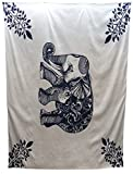 DuringVillage Tapestry Wall Hanging Indian Bedding Dorm Decor Ganesh Elephant [Thumbtack included]