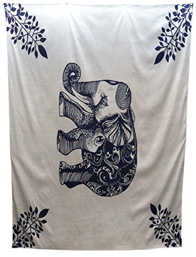 DuringVillage Tapestry Wall Hanging Indian Bedding Dorm Decor Ganesh Elephant [Thumbtack included] by DuringVillage