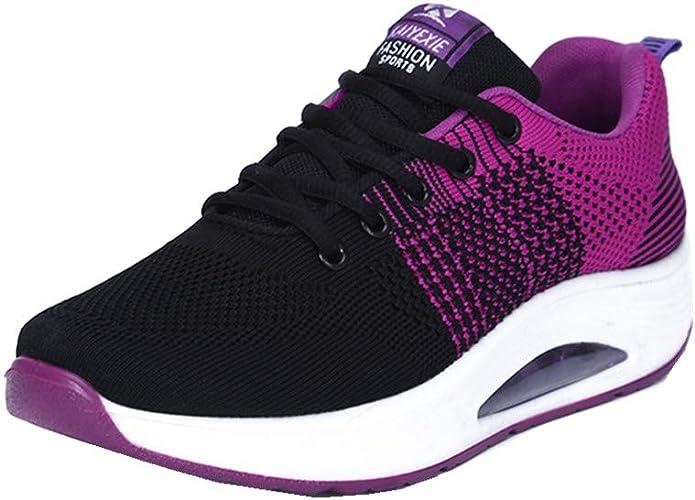 Mujer Zapatillas de Deporte Cuña Zapatos para Correr Plataforma ...