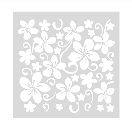 FLORAL PATTERNS STENCIL 130mm x 130mm