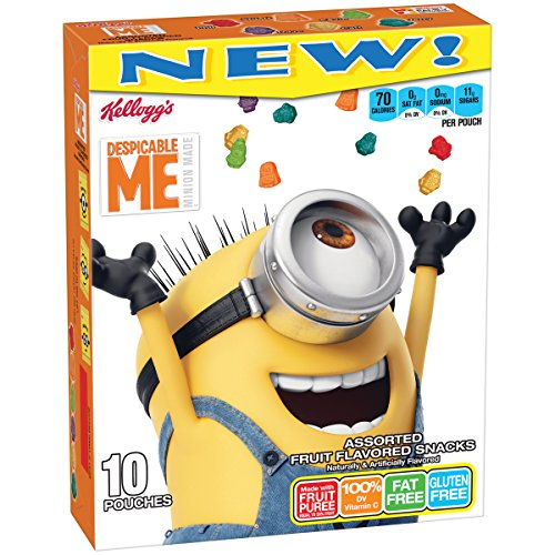 Kellogg's Despicable Me 3 Fruit Flavored Snacks, 10 Count, 8 Ounce -