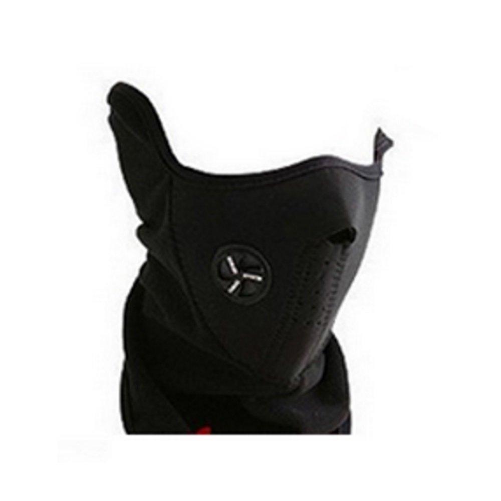 BlueBeach - Noir cou plus chaudes visage masque cyclisme moto vé lo Ski casque vent voile Snowboard unisexe é preuve de la poussiè re & demi masque l'é preuve du vent bike-mask-1-bk