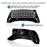 Nyko Glow in the Dark Type Pad Bluetooth Mini Wireless Chat Pad Message Keyboard with Built-in Speaker and 3.5mm Jack for PlayStation DualShock 4 Controller