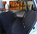 instecho UPSKY Dog Seat Cover, Premium Protection Quilted Padding Nonslip Rubber Backing with Seat Anchors for Cars, Trucks and SUVs, Jet Black …
