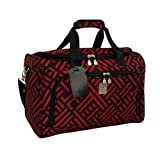 Jenni Chan Signature Computer Tote, Black/Red