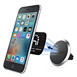 Spinido Universal Air Vent Magnetic Car Mount Holder, for Apple iPhone 6/6S Plus, Samsung S7/S6 Edge Magnetic Enhanced Edition - Silver