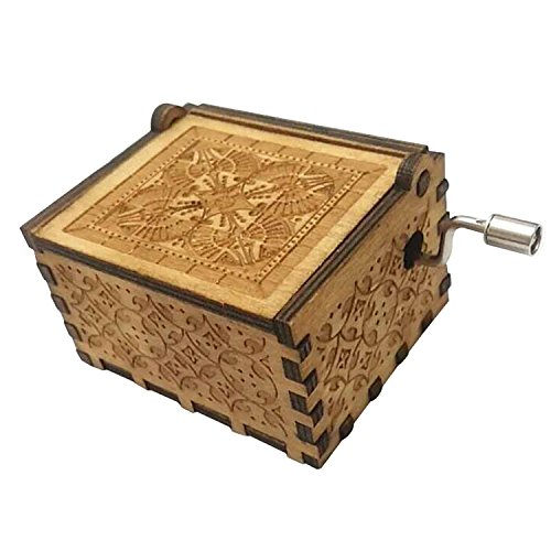 FORUSKY Hand Cranking Carved Game of Thrones Wood Music Box for Home Decoration Crafts,Toys,Gift by FORUSKY (Image #4)
