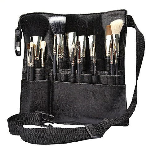Hotrose 22 Pockets Professional Cosmetic Makeup Brush Bag with Artist Belt Strap for Women ( Brush Not Included )