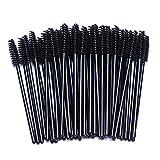 #2: Camkey 100pcs Makeup Brushes Mascara Applicator Spoolie Brush Eyelash Wand Disposable (Black)