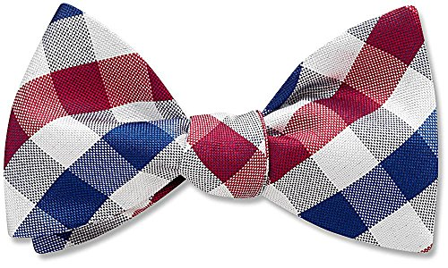 Liberty Red Plaid, Men's Bow Tie, by Beau Ties Ltd of Vermont