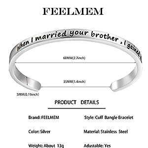 feelmem sister of the groom gift sister in law bracelet