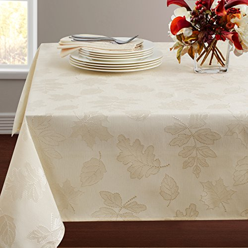 Harvest Tablecloth - Benson Mills Harvest Legacy Damask Tablecloth (Ivory, 60