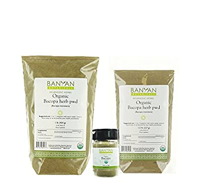 Banyan Botanicals Bacopa Powder - USDA Organic - Bacopa monniera - Ayurvedic Herb for Memory & Focus