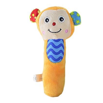 Juguetes de peluche para bebés y niñas, diseño de carrito de peluche con dibujos animados