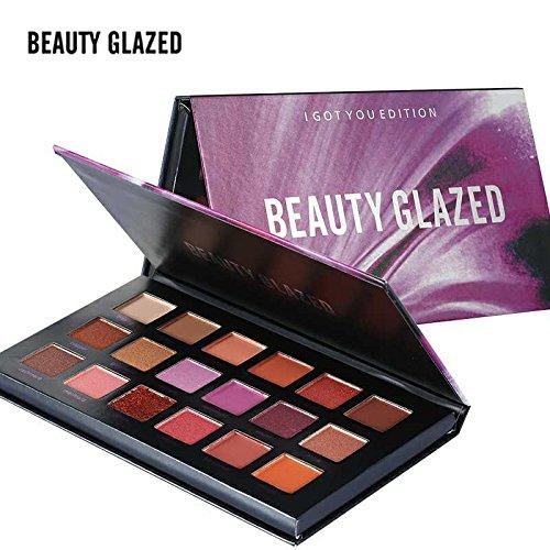 Beauty Glazed Eyeshadow Palette 18 Colors Eye Shadow Powder Make Up Waterproof Eye Shadow Palette Cosmetics