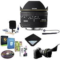 Sigma 15mm f/2.8 EX DG AutoFocus Diagonal FishEye Lens for Pentax AF - USA Warranty - Bundle with Flex Lens Shade, Cleaning Kit, Lens Wrap, Lens Cap Leash II, Software Package