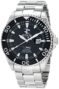 Invicta Men's 1542 Reserve Black Dial Stainless-Steel Watch