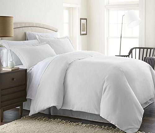 1000 Thread Count Duvet Cover Set 3 Piece With Zipper & Corner Ties 100% Egyptian Cotton Hypoallergenic (1 Duvet Cover 2 Pillow Shams) ( Cal King/King, White ) by BED ALTER