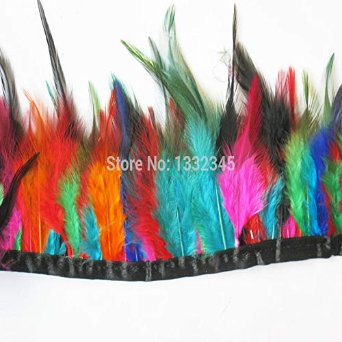 (Maslin 50cm / LOT Height10-15cm Combed Rooster Feathers Feather Tassel Trim Color Craft Clothes)