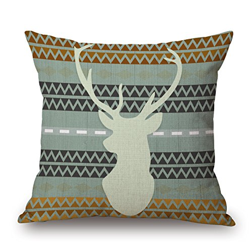 Slimmingpiggy Comfortable Bedding A Pop Pattern Background With A Elk 20X20 Inch Pillow Case