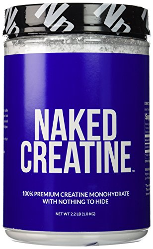 Pure Creatine Monohydrate – 200 Servings 1,000 Grams, 2.2lb Bulk, Non GMO, Gluten Free, Soy Free. Aid Muscle Growth & Strength Gains, No Artificial Ingredients NAKED CREATINE