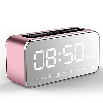 Beautyrain Despertador Digital Altavoz Blue-Tooth con Sonido ...