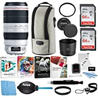 Canon EF 100-400mm f/4.5-5.6L IS USM II Lens w/UV Filter & Software Bundle