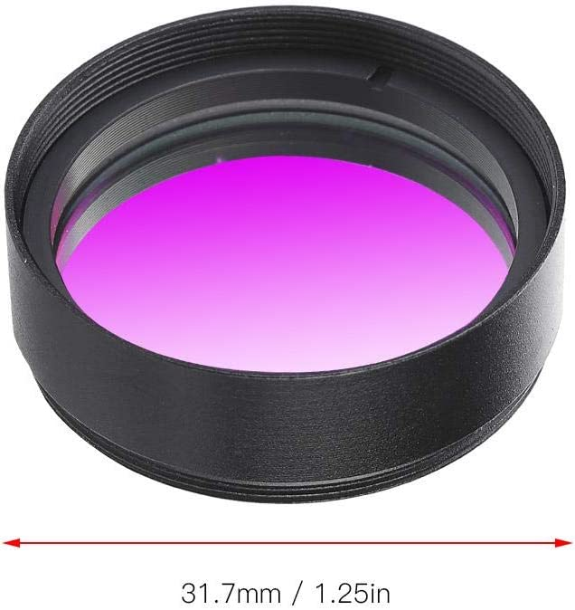 V BESTLIFE UHC Deep Sky Light High Contrast Pollution Light Telescope Eyepiece Filter,1.25 Inch Astronomy Filter Lens Accessories for City,Suburban Observation
