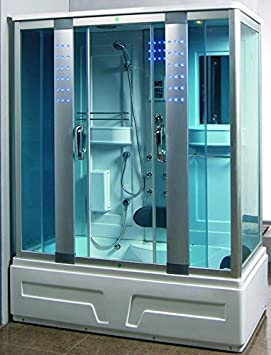 Cabina de ducha hidromasaje Sauna Baño Turco 160 x 85: Amazon.es ...
