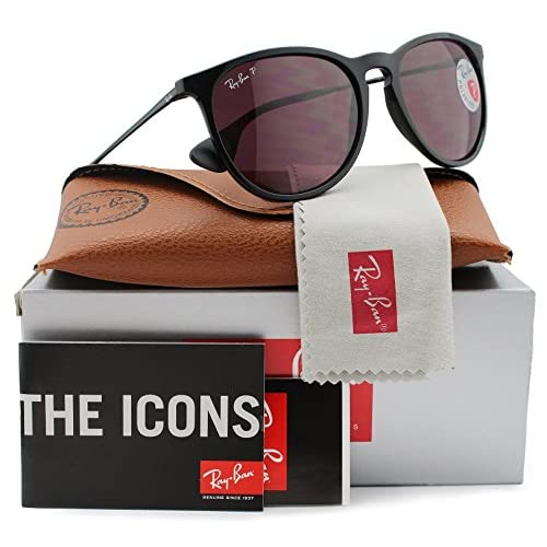 1973c1e226bd4e best Ray-Ban RB4171 Erika Polarized Sunglasses Shiny Black w Crystal Purple  (601