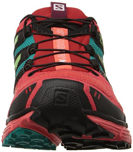 Salomon Women's X-Mission 3 W Trail Runner Infrared / Coral Punch / Teal Blue F DTO9OQ