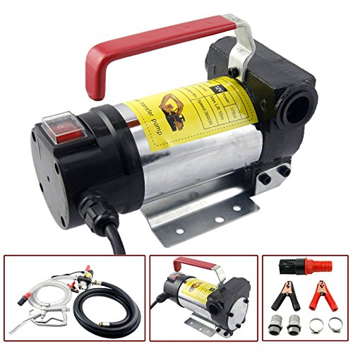 Diesel Oil Pump - Orion Motor Tech Diesel Transfer Pump Kit 12V Volt DC Fuel Self Priming Oil 45L/Min W/Hose