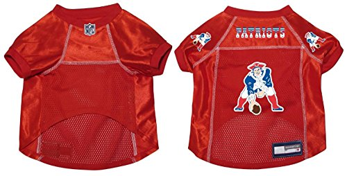 Pet Dog Mesh Football Jersey Throwback Style XL (New England Patriots Throwback Jersey)
