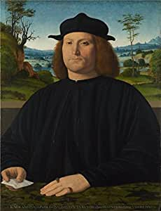 'Andrea Solario - Giovanni Cristoforo Longoni,1505' oil painting, 8x10 inch / 20x26 cm ,printed on Cotton Canvas ,this High Definition Art Decorative Prints on Canvas is perfectly suitalbe for Bedroom decoration and Home gallery art and Gifts
