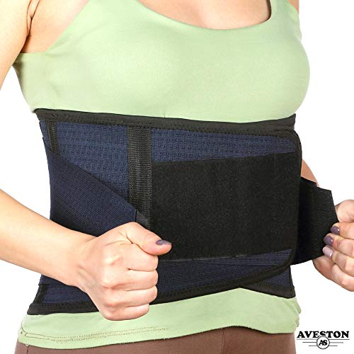 Back Support Lower Back Brace Provides Back Pain Relief - Breathable Lumbar Support Belt for Men and Women Keeps Your Spine Straight and Safe - Size 28''- 33