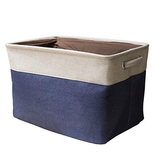Storage Bin StarVast Cotton & Jute Portable Foldable Orga...