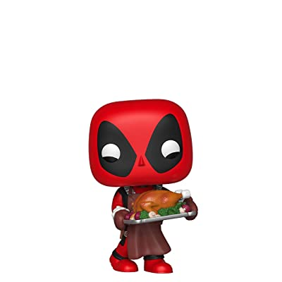 Funko Pop! Marvel: Holiday - Deadpool with Turkey: Toys & Games