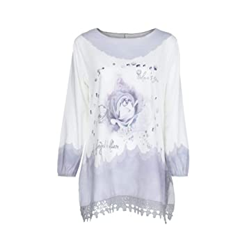 Clearance!Youngh 2018 New Womens Blouses Plus Size Lace Print Loose Long Sleeve Pullover Fashion Blouse T Shirt Tops: Amazon.com: Grocery & Gourmet Food