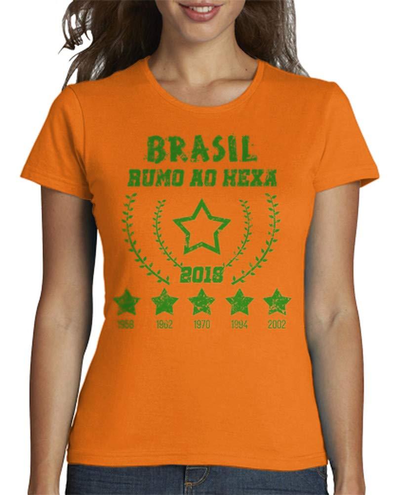 latostadora - Camiseta Brasil - Rumo Ao Hexa para Mujer Azul Cielo S: mariana_godoy87: Amazon.es: Ropa y accesorios
