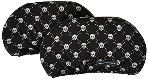Crutch Caps Adults Underarm Crutch Pads, Black/Brown/Cream, Skulls, Large by Crutch Caps